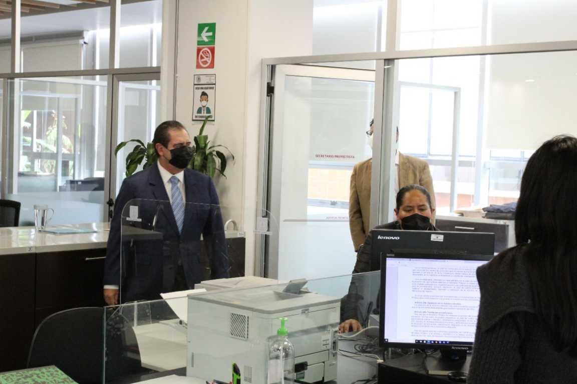 Supervisa Bernal Salazar instalaciones en Ciudad Judicial