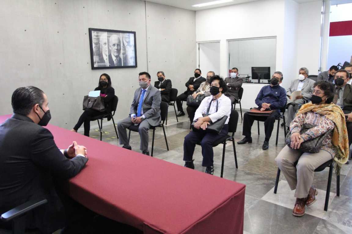 Conversa Héctor Maldonado con colegios y barras de abogados de Tlaxcala