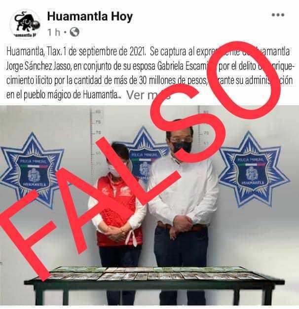Alcalde de Huamantla desmiente publicaciones falsas