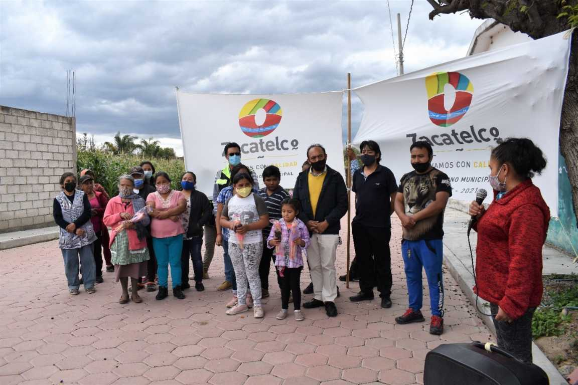 En Zacatelco cerramos con broche de oro invertimos 15 mdp en obras: TOA