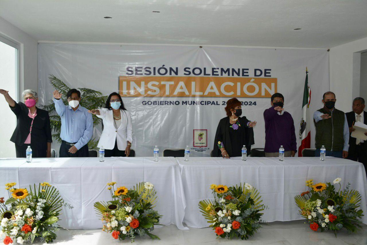 Se instala el cabildo de la administración 2021-2024 en Xicohtzinco