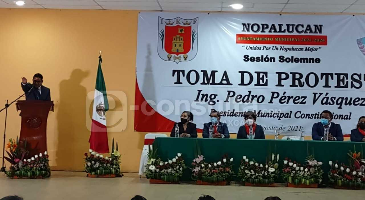 Nopalucan tiene un nuevo alcalde Pedro Pérez Vázquez
