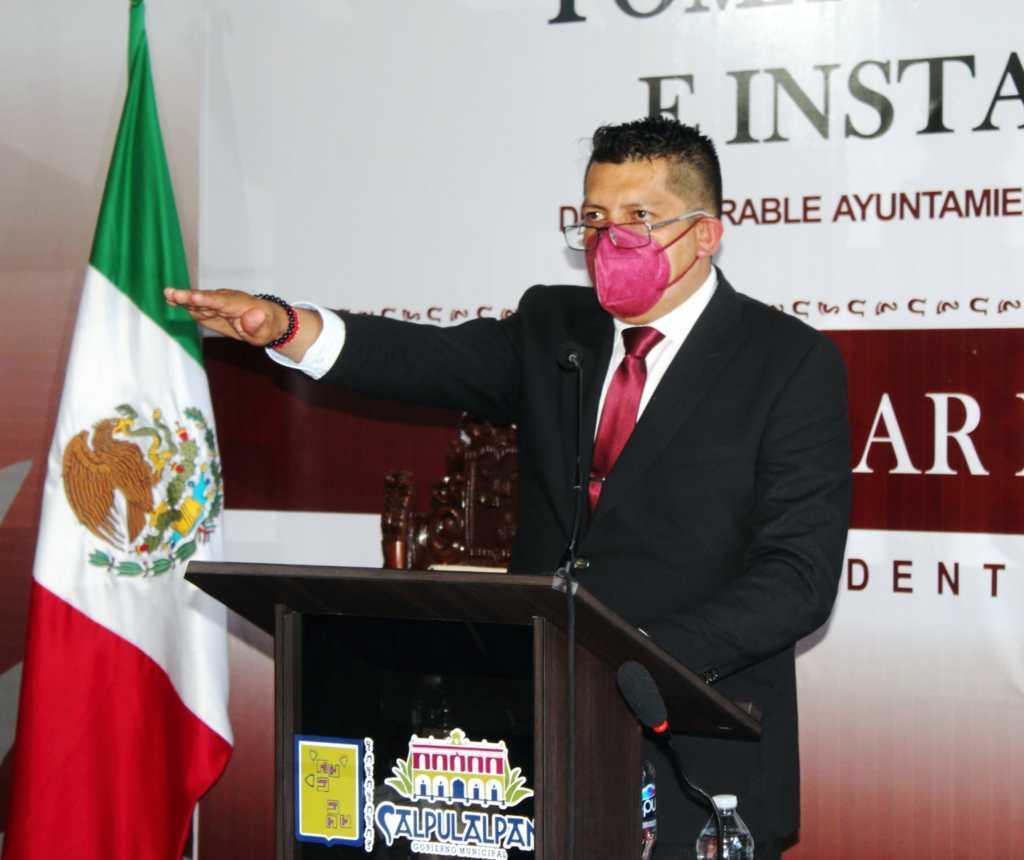 Edgar Peña Nájera asume la presidencia municipal de Calpulalpan 2021-2024