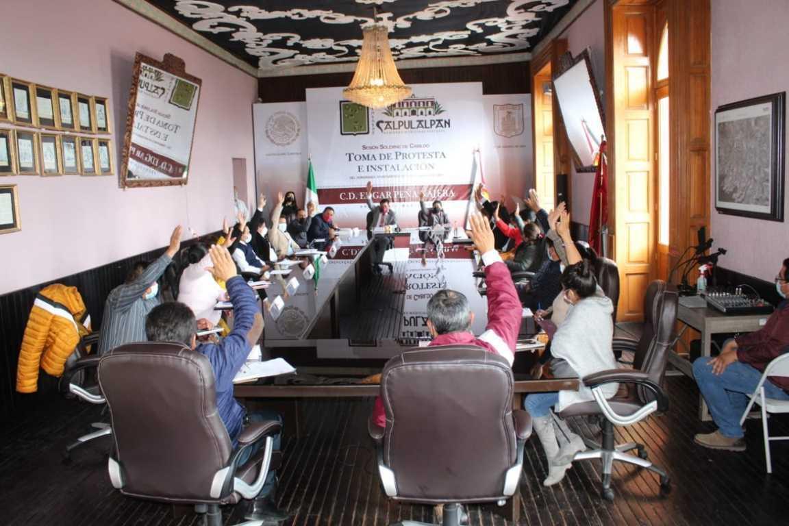 Cabildo de Calpulalpan en 1ra sesión asignan comisiones y ratifican nombramientos