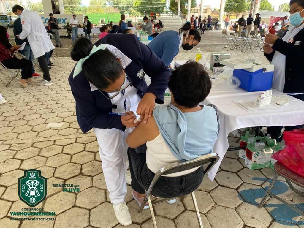 Exitosa jornada de vacunación en Yauhquemehcan