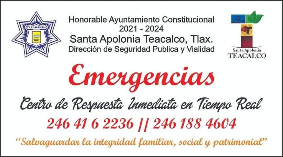 Alcalde de Teacalco implementa dos números telefónicos de emergencia