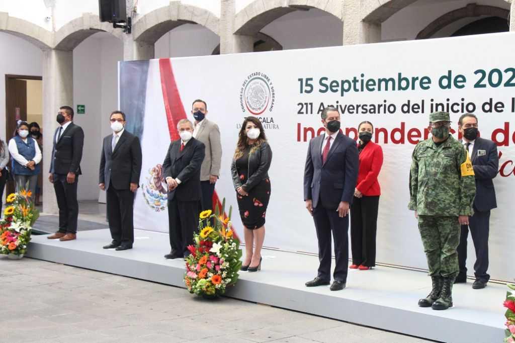 Realiza El Congreso del Estado ceremonia cívica del 211 Aniversario Del Inicio De Independencia de México