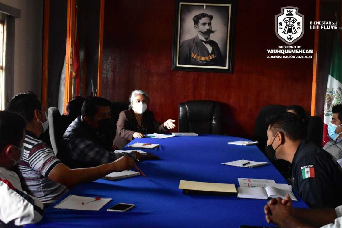 Sostiene Dirección de Seguridad Pública de Yauhquemehcan diálogo con presidentes de comunidad