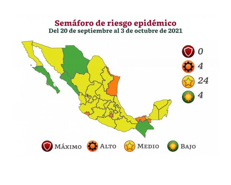 Secretaría de salud federal ubica a Tlaxcala en semáforo epidemiológico amarillo