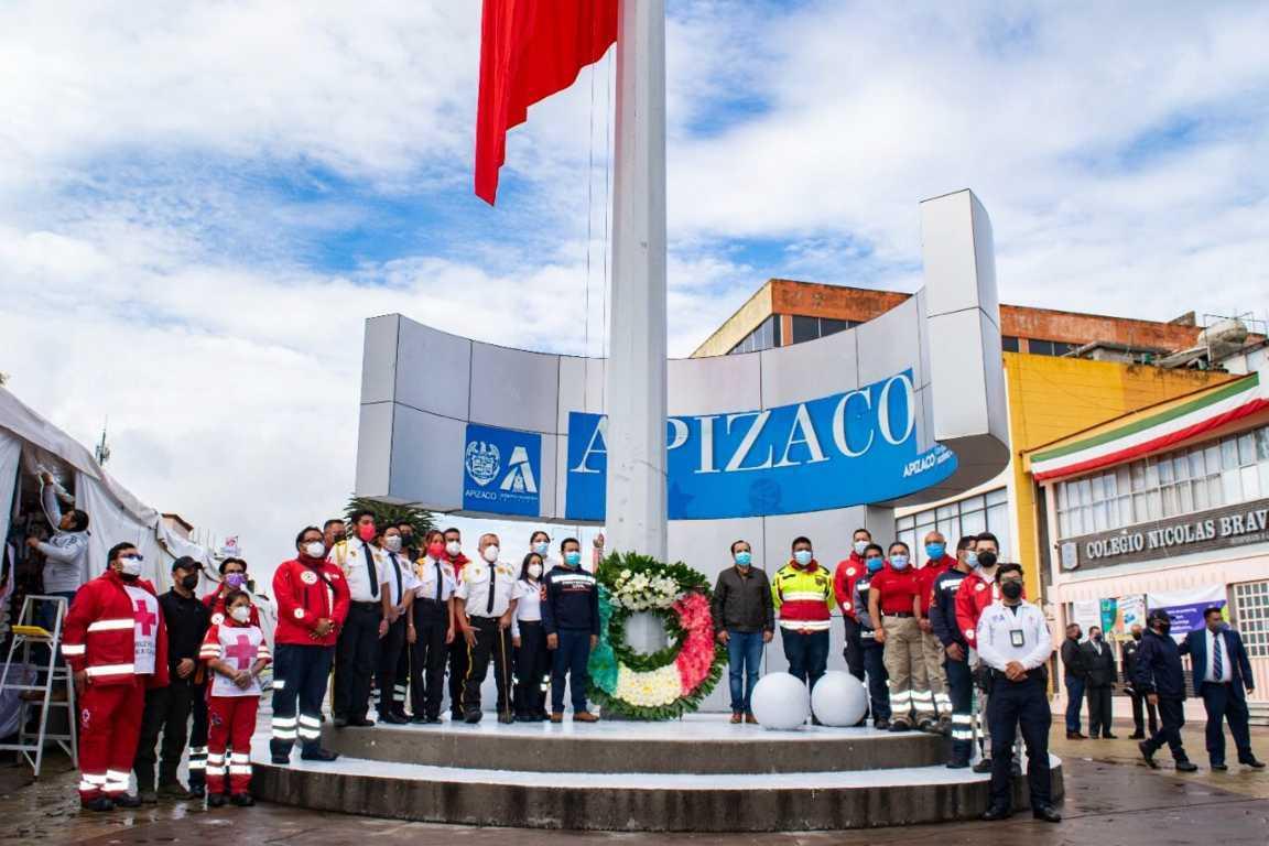 Destaca Gobierno de Apizaco labor de Protección Civil; conmemoran Día Nacional
