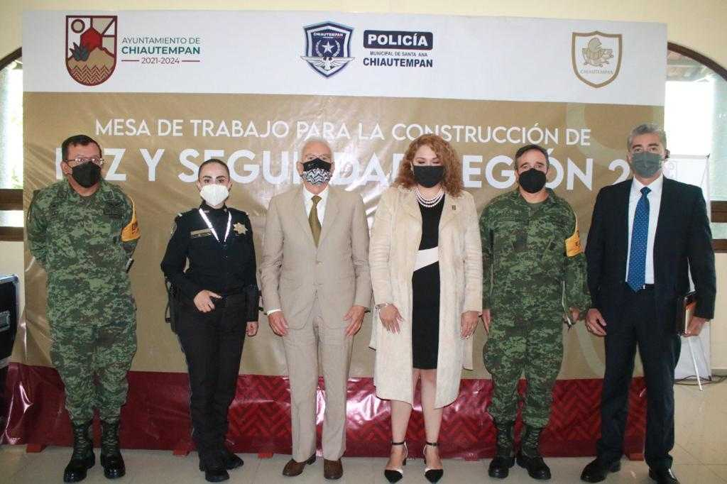 Fue Chiautempan sede de la Mesa de Trabajo para la Construcción de Paz y Seguridad Región 2
