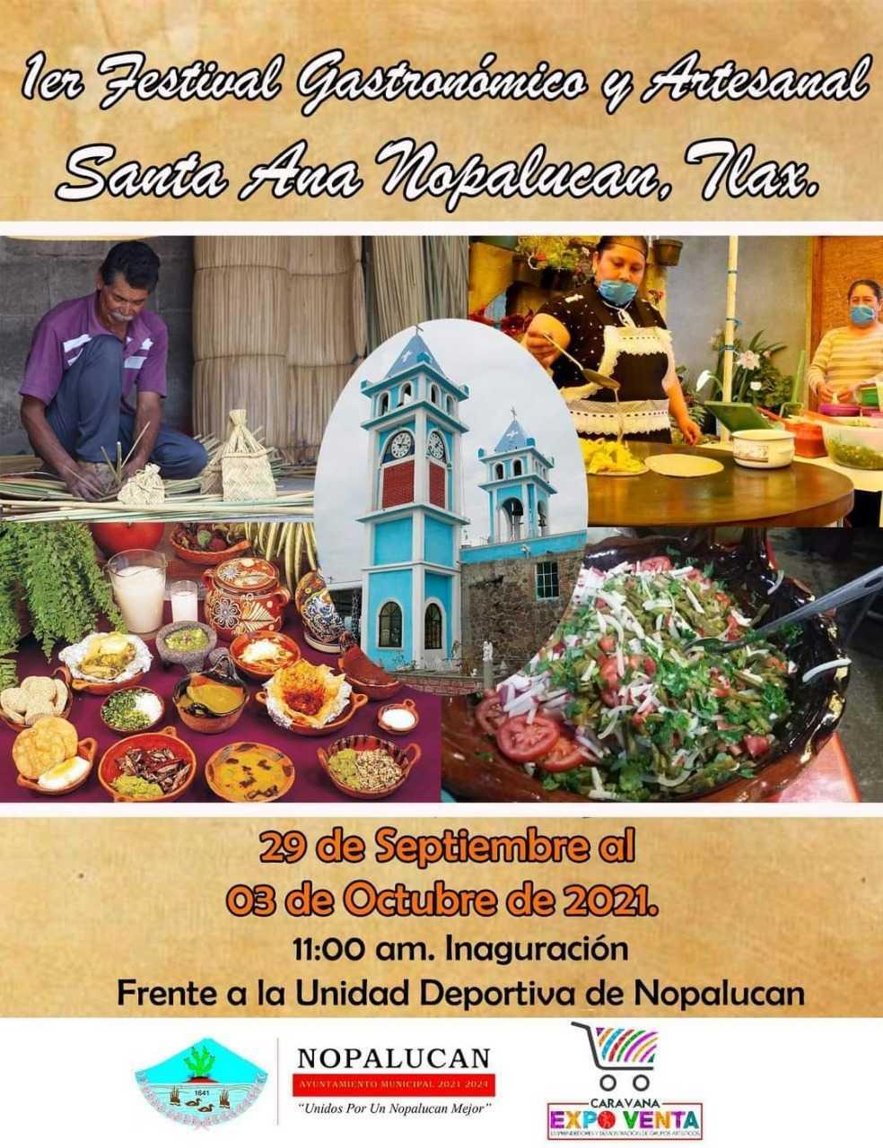 Nopalucan sede del 1er festival gastronómico y artesanal