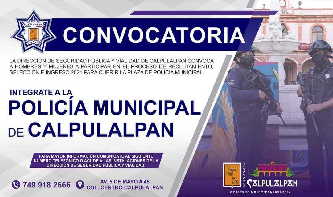 Emite Ayuntamiento convocatoria para reclutamiento de policías
