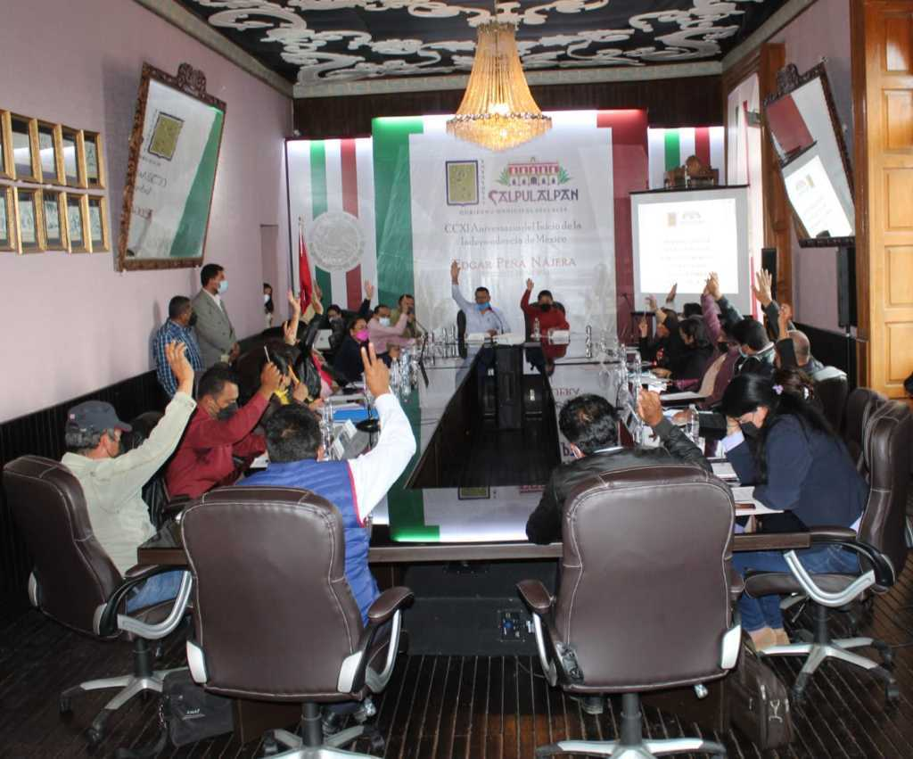 Cabildo de Calpulalpan aprobó la Ley de ingreso 2022