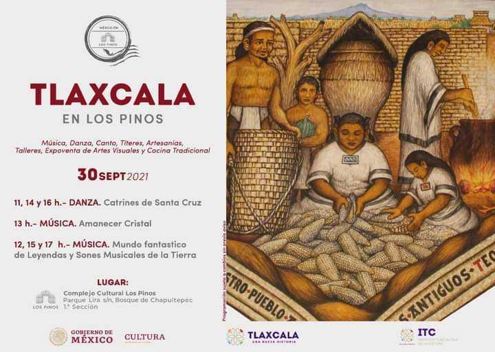 Hoy continúa participación de Santa Cruz Tlaxcal en Semana Cultural en Los Pinos, David Martínez