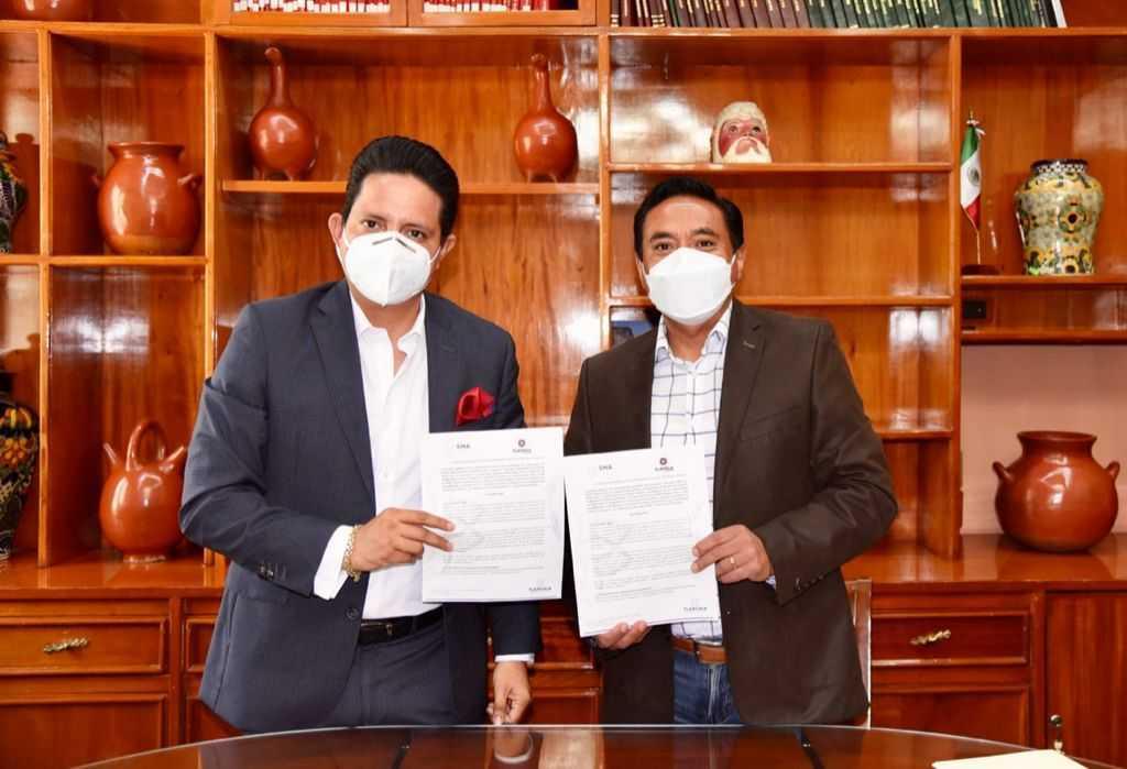 Signan Ayuntamiento de Tlaxcala y SMA convenio de colaboración en materia ambiental