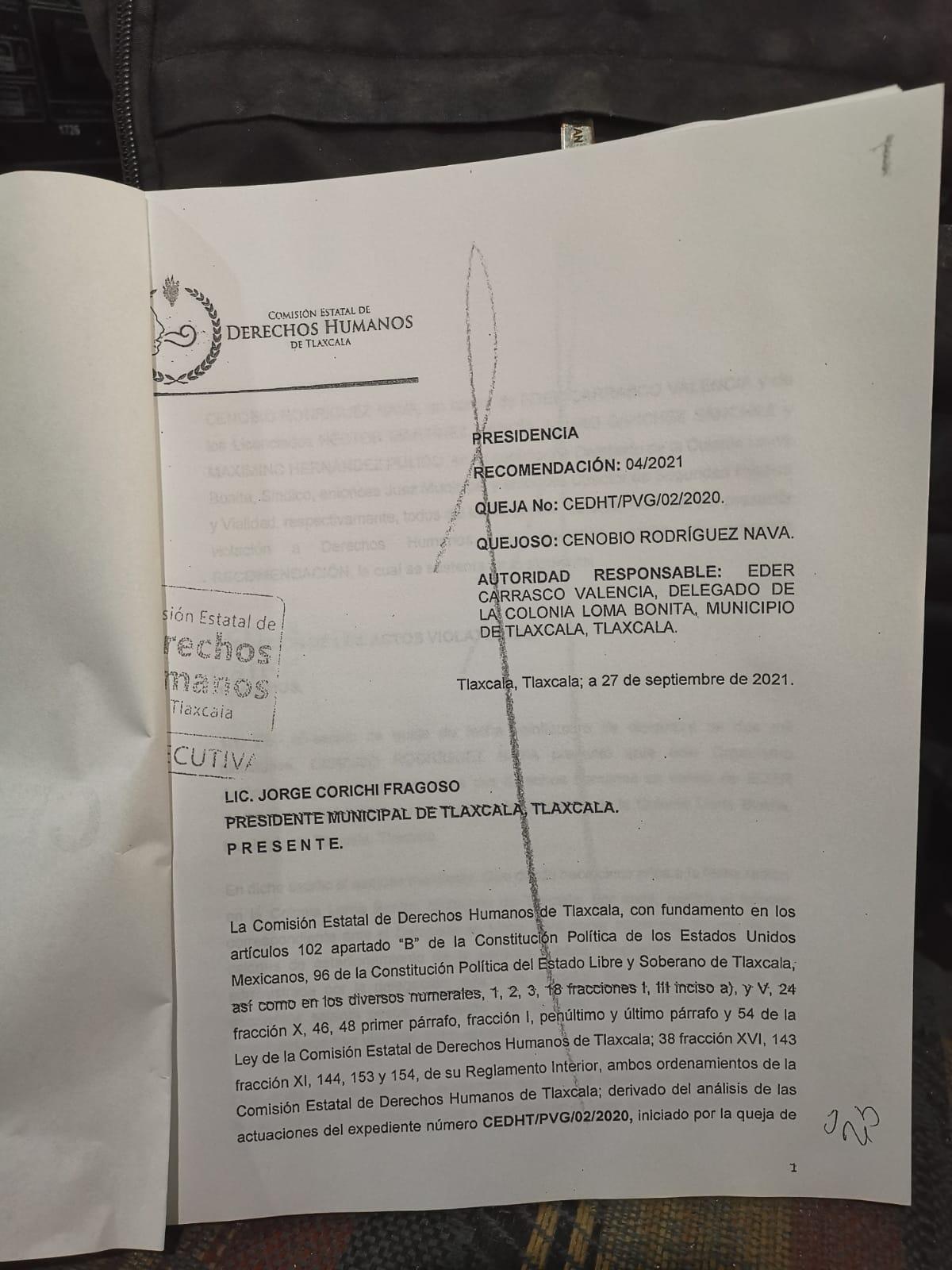 Delegado de Loma Bonita en serios problemas legales