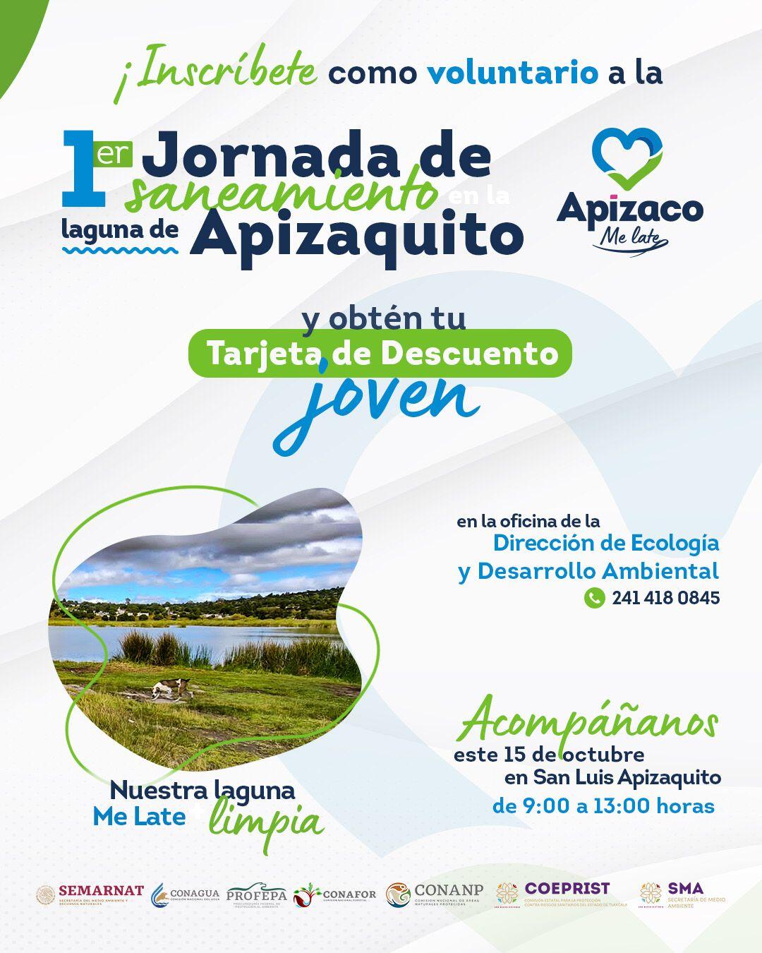 Gobierno de Apizaco invita a jornada de limpieza de la laguna de Apizaquito