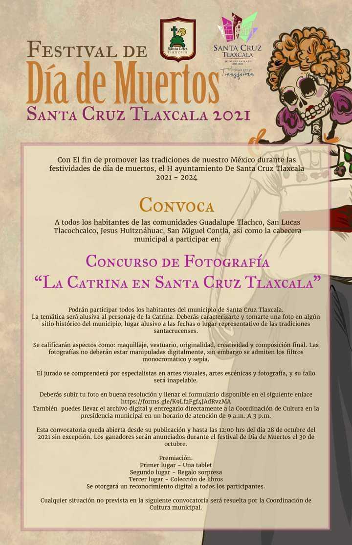 Santa Cruz Tlaxcala vivirá con pasión, festividad de 'Día de Muertos', David Martínez