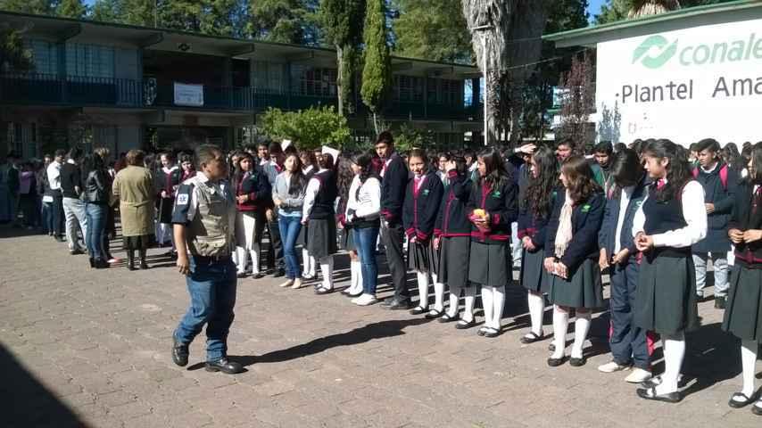 Organizó Ayuntamiento de Amaxac simulacro de sismo