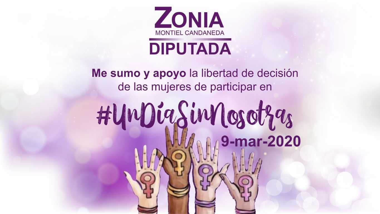 Alzar la voz por las que estamos y por las que ya no están, exhorta Zonia Montiel Candaneda