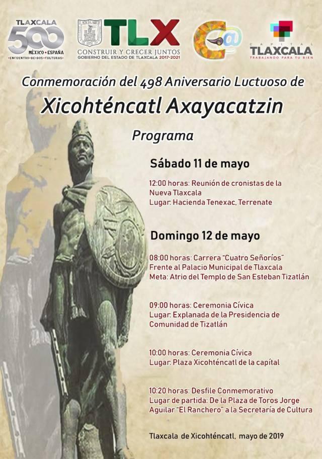Realizarán desfile conmemorativo de Xicohténcatl Axayacatzin