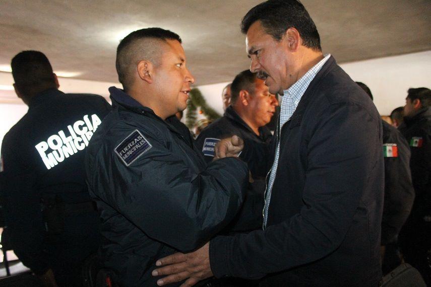 Reconoce Villarreal Chairez esfuerzo de los elementos policiacos