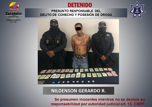 Detienen a sujeto en Zacatelco por delitos contra la salud