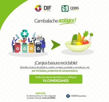 Inicia en Zacatelco operación del Centro de Canje de Basura Reciclada