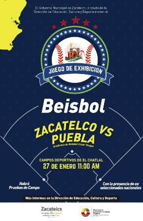 Este domingo habrá béisbol de exhibición en Zacatelco