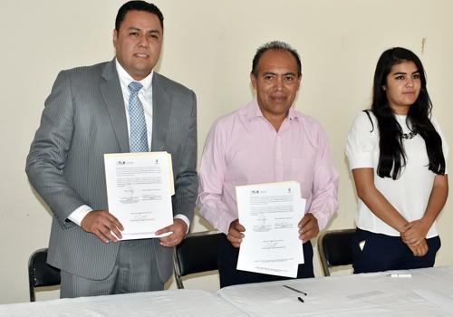 Firman convenio de colaboración Ayuntamiento de Zacatelco y el ICATLAX