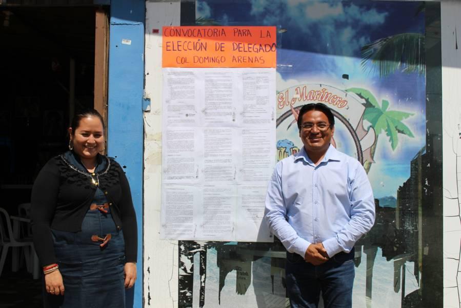 Convocan a elección de delegado en colonia Domingo Arenas